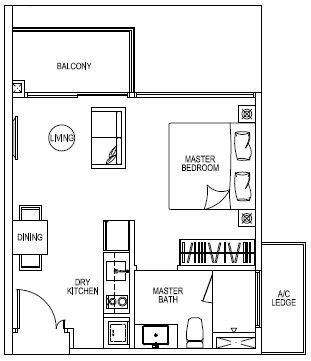 RiverIsles Floor Plan :: Unit Type A1